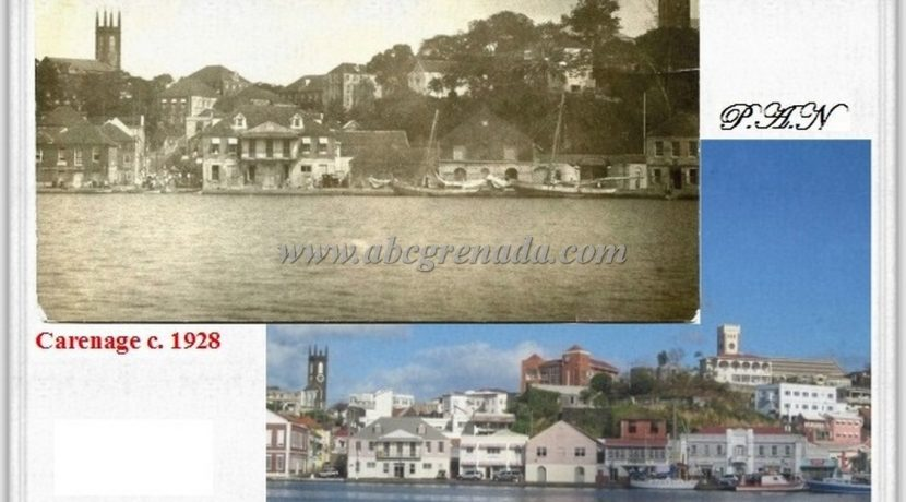 Carenage c. 1928 & 2016 Comparisons
