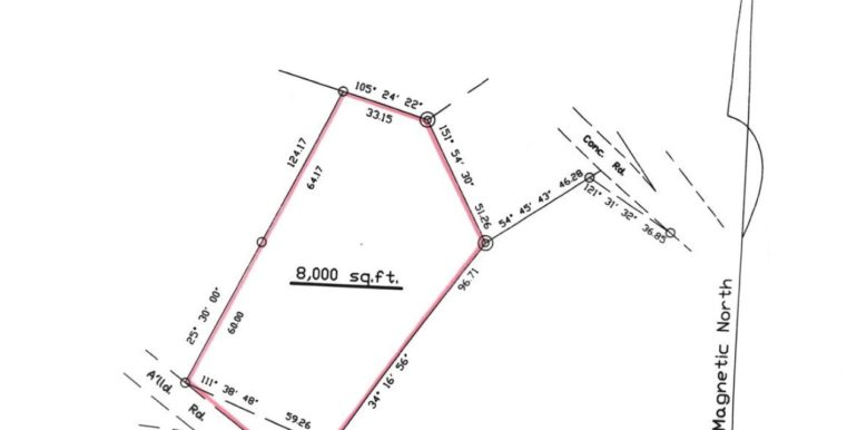 WEB copy Lot plan Mt. Nesbit 8000 square feet